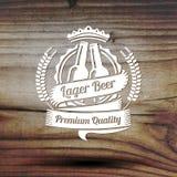 Vieja etiqueta diseñada para su negocio de la cerveza, tienda Fotografía de archivo