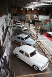 Vieja exposición de los coches Imágenes de archivo libres de regalías