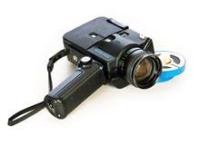 Vieja forma de tecnología. Cámara de película de Super-8mm Imágenes de archivo libres de regalías