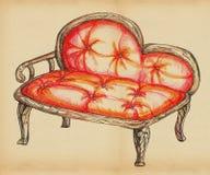 Vieja forma del sofá Imágenes de archivo libres de regalías