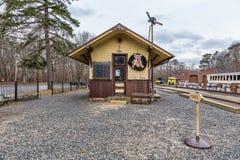 Vieja, histórica estación de tren Fotografía de archivo