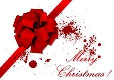Vieja ilustración de la Navidad de una cinta roja libre illustration