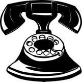 Vieja ilustración del teléfono Foto de archivo libre de regalías
