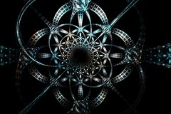 Vieja imagen blanca y negra azul geométrica de plata abstracta Imágenes de archivo libres de regalías