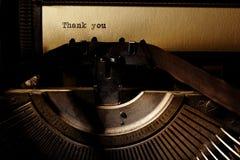 Vieja inscripción en una máquina de escribir Imagenes de archivo