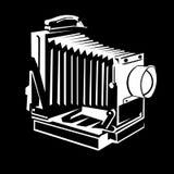 Vieja insignia de la cámara stock de ilustración