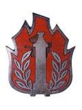 Vieja insignia del bombero Foto de archivo libre de regalías