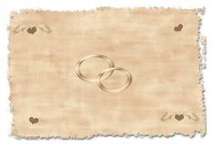 Vieja invitación de la boda Fotografía de archivo libre de regalías