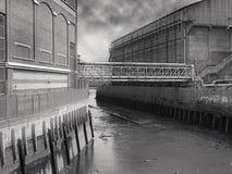 Vieja línea de costa de Londres   Fotografía de archivo libre de regalías