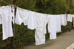 Vieja línea del lavadero Fotografía de archivo libre de regalías