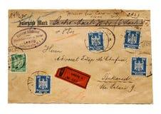 Vieja letra Imágenes de archivo libres de regalías