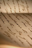 Vieja letra de amor Fotos de archivo