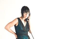 ¡Vieja llamada de teléfono de Timey! Imagenes de archivo