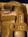Vieja llave inglesa imagen de archivo