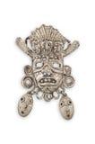 Vieja máscara mexicana de plata. Imágenes de archivo libres de regalías