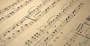 Vieja música Imágenes de archivo libres de regalías