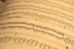 Vieja música de hoja Foto de archivo
