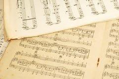 Vieja música de hoja Imagenes de archivo