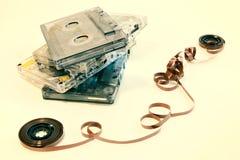 Vieja música del cassette Imágenes de archivo libres de regalías