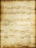 Vieja música en el pergamino ilustración del vector