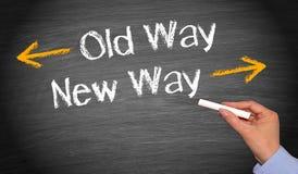 Vieja manera, nueva manera Imagen de archivo