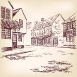 Vieja mano inglesa de la calle drenada Fotografía de archivo libre de regalías
