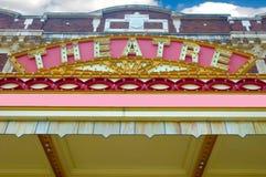 Vieja marca del teatro. Fotos de archivo libres de regalías