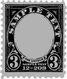 Vieja marca postal negra Fotos de archivo libres de regalías