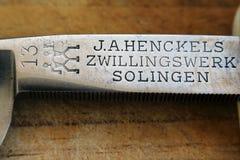 Vieja marca registrada de la maquinilla de afeitar del estrecho Israel MAY-06-2017 foto de archivo