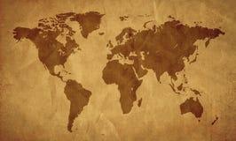 Vieja mirada de Worldmap Stock de ilustración