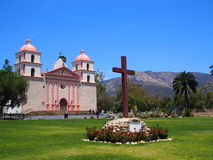 Vieja misión Santa Barbara California Imagenes de archivo