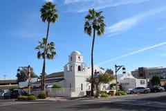 Vieja misión Scottsdale de Adobe Imágenes de archivo libres de regalías