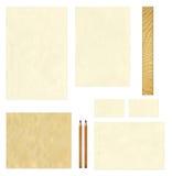 Vieja mofa de papel de la plantilla para arriba Imagen de archivo