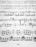 Vieja música de hoja Imágenes de archivo libres de regalías