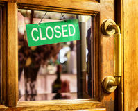 Vieja muestra cerrada Fotografía de archivo libre de regalías