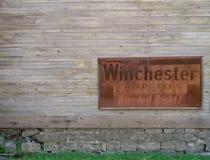 Vieja muestra de los cigarrillos de Winchester Imágenes de archivo libres de regalías