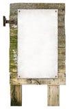 Vieja muestra de madera Imagen de archivo