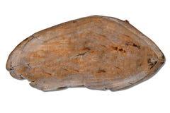 Vieja muestra de madera aislada en el fondo blanco Fotos de archivo libres de regalías