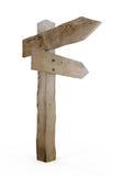 Vieja muestra de madera de la flecha Imagen de archivo