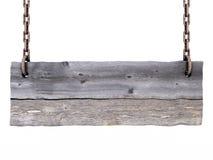 Vieja muestra de madera en blanco Fotografía de archivo libre de regalías