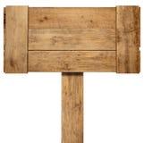 Vieja muestra de madera resistida Imágenes de archivo libres de regalías