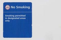 Vieja muestra de no fumadores Imagen de archivo