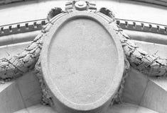Vieja muestra de piedra del edificio Fotografía de archivo