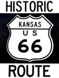 Vieja muestra histórica de Route 66 Foto de archivo
