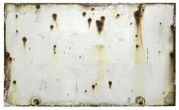 Vieja muestra resistida en blanco Imagen de archivo libre de regalías