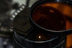 Vieja negativa de película foto de archivo libre de regalías