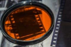 Vieja negativa de película fotos de archivo