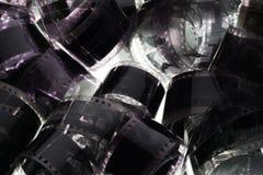 Vieja negativa tira de la película de 35 milímetros en el fondo blanco Fotografía de archivo libre de regalías