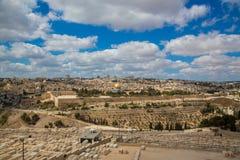 Vieja opinión de Jerusalén Fotos de archivo libres de regalías