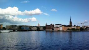 Vieja opinión de la ciudad de Estocolmo Fotos de archivo libres de regalías